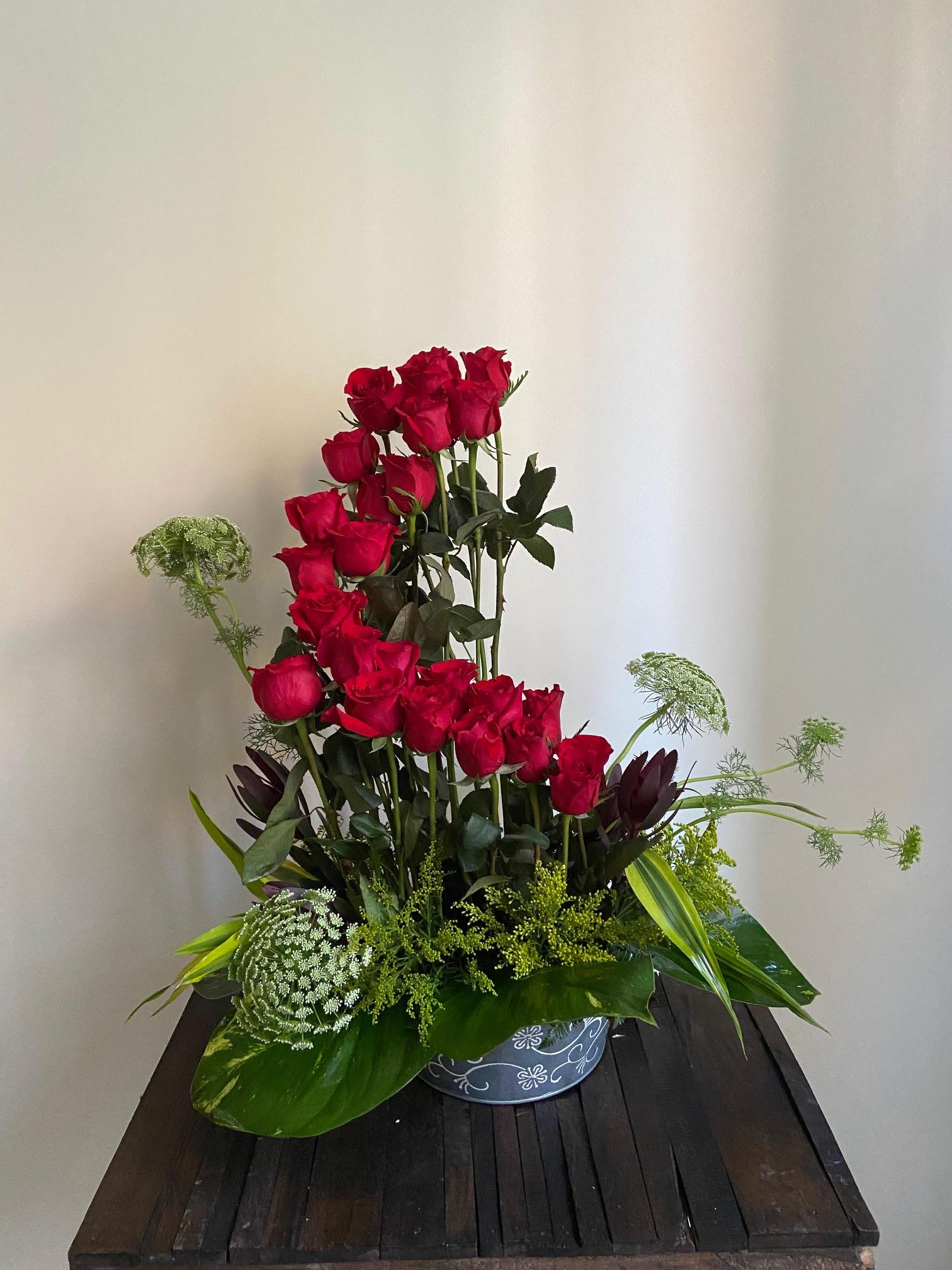 Degrade de rosas rojas Image